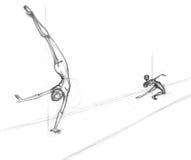 equilibrium royaltyfri illustrationer