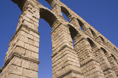 Equilibrium. Aquaducto of Segovia,Spain royalty free stock photos