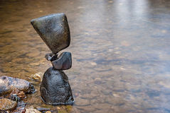 Equilibrium. Balanced stones without any kind of glue or artificial help only gravity Stock Photos