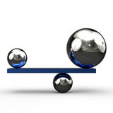 Equilibrium. Concept 3D image showing equilibrium Stock Photo