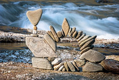 Equilibrium IV Arch. Balanced stones without any kind of glue or artificial help only gravity Royalty Free Stock Photo