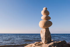 Equilibrium of pebbles Royalty Free Stock Photo