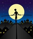 Equilibrium silhouette. Vector. Cartoon illustration. Equilibrium silhouette Royalty Free Stock Images
