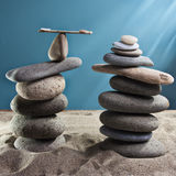 Equilibrium tower stones Royalty Free Stock Images