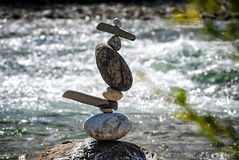 Equilibrium V Dancer. Balanced stones without any kind of glue or artificial help only gravity Royalty Free Stock Photos