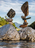 Equilibrium XII. Balanced stones without any kind of glue or artificial help only gravity Royalty Free Stock Image