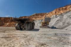Equipement on Cooper mine - Open pit 22 Royalty Free Stock Image