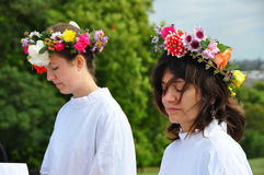 Equinócio 2009 do outono dos Druids Imagens de Stock Royalty Free