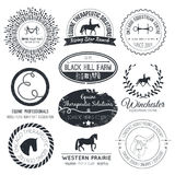 Equine Logo Stock Photography