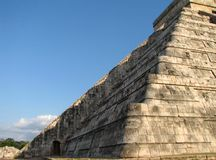 Equinox Chichen Itza. Spring equinox at Chichen Itza in the Yucatan Peninsula now one of the new 7 Wonders of the World Royalty Free Stock Image