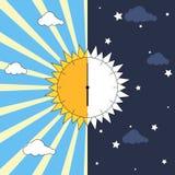 Equinox concept stock illustration