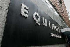 Equinox Sports Club sign Royalty Free Stock Photo
