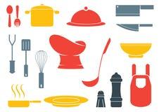 Equioment colorido de la cocina ilustración del vector