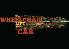 Equip Your Car With Wheelchair Lift Word Cloud Concept Royalty Free Stock Photography