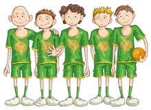 Equipa de basquetebol Fotos de Stock
