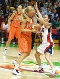 Equipa de basquetebol EUA das mulheres Foto de Stock Royalty Free