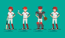 Equipa de basquetebol Ilustração do vetor de um projeto liso Imagens de Stock Royalty Free