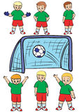 Equipa de futebol Ilustração Royalty Free