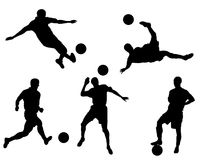 Equipa de futebol Foto de Stock