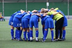 Equipa de futebol Imagens de Stock