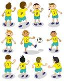 Equipa de futebol Fotos de Stock Royalty Free