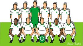 Equipa de futebol 2018 de Arábia Saudita Fotografia de Stock Royalty Free