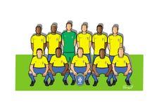 Equipa de futebol 2018 de Brasil Imagem de Stock