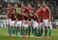 Equipa de futebol de Hungria Fotografia de Stock