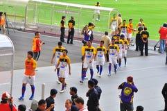 Equipa de futebol de Malaysia e de Liverpool Foto de Stock