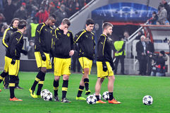 Equipa de futebol do Borussia Dortmund Fotos de Stock Royalty Free