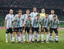 Equipa de futebol do nacional de Argentina Fotos de Stock