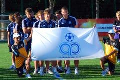 Equipa de futebol dos jovens do russo Fotografia de Stock Royalty Free