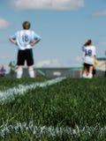 Equipa de futebol fêmea Imagem de Stock