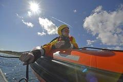 A equipa de salvamento aberta espanhola dos braços do ngo Proactiva Imagens de Stock