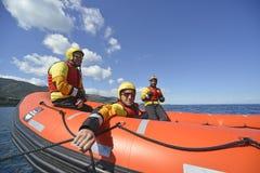 A equipa de salvamento aberta espanhola dos braços do ngo Proactiva Fotos de Stock Royalty Free