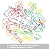Equipa el sistema colorido del revoltijo en vector Foto de archivo