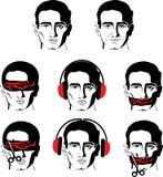 Equipa a face em versões diferentes Imagens de Stock