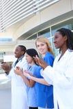 Equipa médica atrativa diversa Imagem de Stock Royalty Free