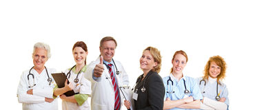 Equipa médica bem sucedida Foto de Stock Royalty Free