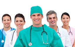 Equipa médica de sorriso Fotografia de Stock