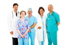 Equipa médica diversa fotografia de stock