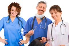 Equipa médica do smiley Fotos de Stock Royalty Free