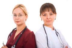 Equipa médica fêmea. Imagem de Stock