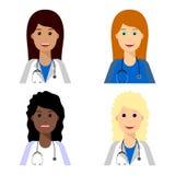 Equipa médica fêmea Foto de Stock Royalty Free