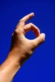 Equipa mostras da mão está bem Imagem de Stock