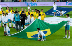 Equipa nacional de Brasil Imagens de Stock