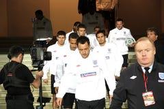 A equipa nacional de Inglaterra vai para o exercício Foto de Stock Royalty Free