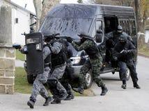 Equipa SWAT imagem de stock