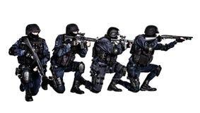 Equipa SWAT na ação Foto de Stock Royalty Free