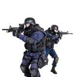 Equipa SWAT na ação Fotografia de Stock Royalty Free